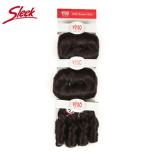 Sleek Hair Extension Color 2 Brown Bundles Remy Brazilian Hair Weave Bundles Glam Short 3PCS Curly Remy Human Hair Extensions