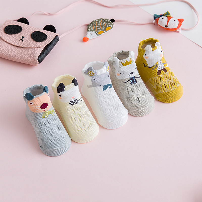 5 пар/лот, летние сетчатые детские носки для новорожденных, милые носки для девочек тонкие носки для малышей, мягкие носки хлопковые носки