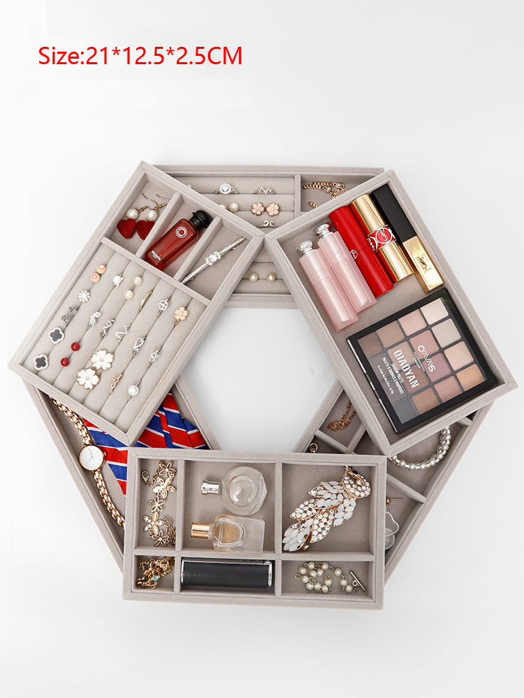 High Quality Drawer Jewelry Display Storage Tray Jewellery Organizer Box Earrings Holder Rings Packaging Watch Necklace Stand