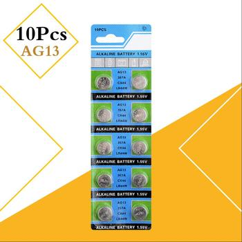 10pcs AG13 1.5V LR44 L1154 RW82 RW42 SR1154 SP76 A76 357A pila lr44 SR44 AG 13 Alkaline Button Cell Coin Battery image