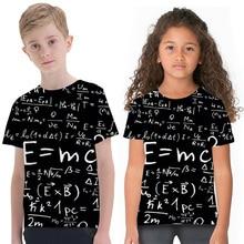 New Design Kids T-shirts Children Simple Fashion 3D Digital Printing Short Sleeve T-shirt Street Boys Girls Crew-neck Tops 3d flame bird print crew neck long sleeve t shirt