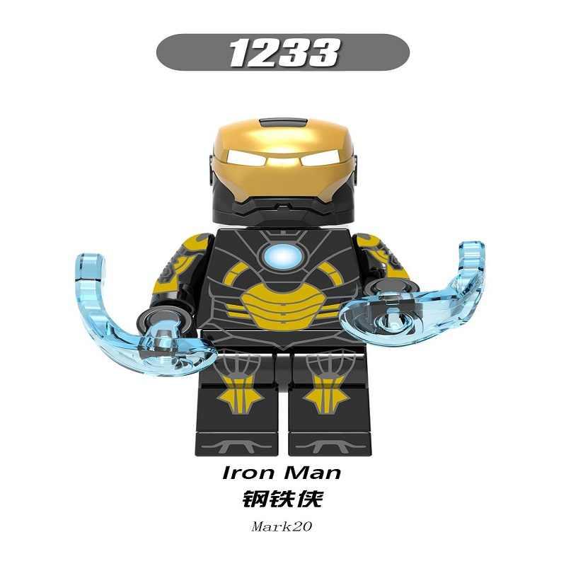 Modelos de Homem de ferro Única Venda Avengers Super Hero Compatível Legoingly Figuras Modelo Conjunto de Blocos de Construção Tijolos Brinquedos Para Crianças