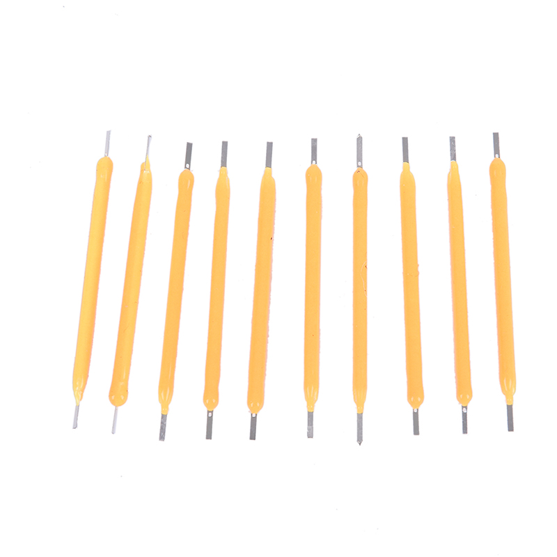 10Pcs Filament Bulb Candle Light Source COB Super Bright LED DIY Candle Light Lamp Manual Supply Warm White Lighting