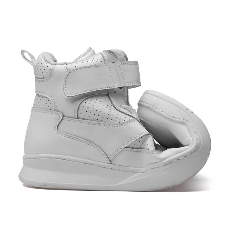 2019 г. Осенне зимняя мужская обувь повседневная мужская обувь из натуральной кожи на плоской подошве, кроссовки с высоким берцем, черная и белая обувь мужская обувь на платформе - 6