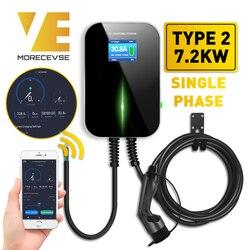 32A 1Phase APP Version EV Ladegerät Elektrische Fahrzeug Ladestation mit Typ 2 Kabel IEC 62196-2 für mercedes-Benz MINI Cooper