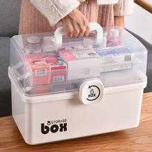 Plastic Tier Medicine Boxes Storage Box Large Capacity Drawer Sundries Organizer Folding Medicine Chest Storage First Aid Kit