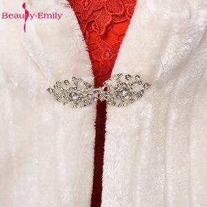 Image 4 - Свадебные аксессуары, свадебные накидки, накидка, накидка, куртка, свадебное болеро, зимние накидки, пальто, искусственный мех, ткань для невест