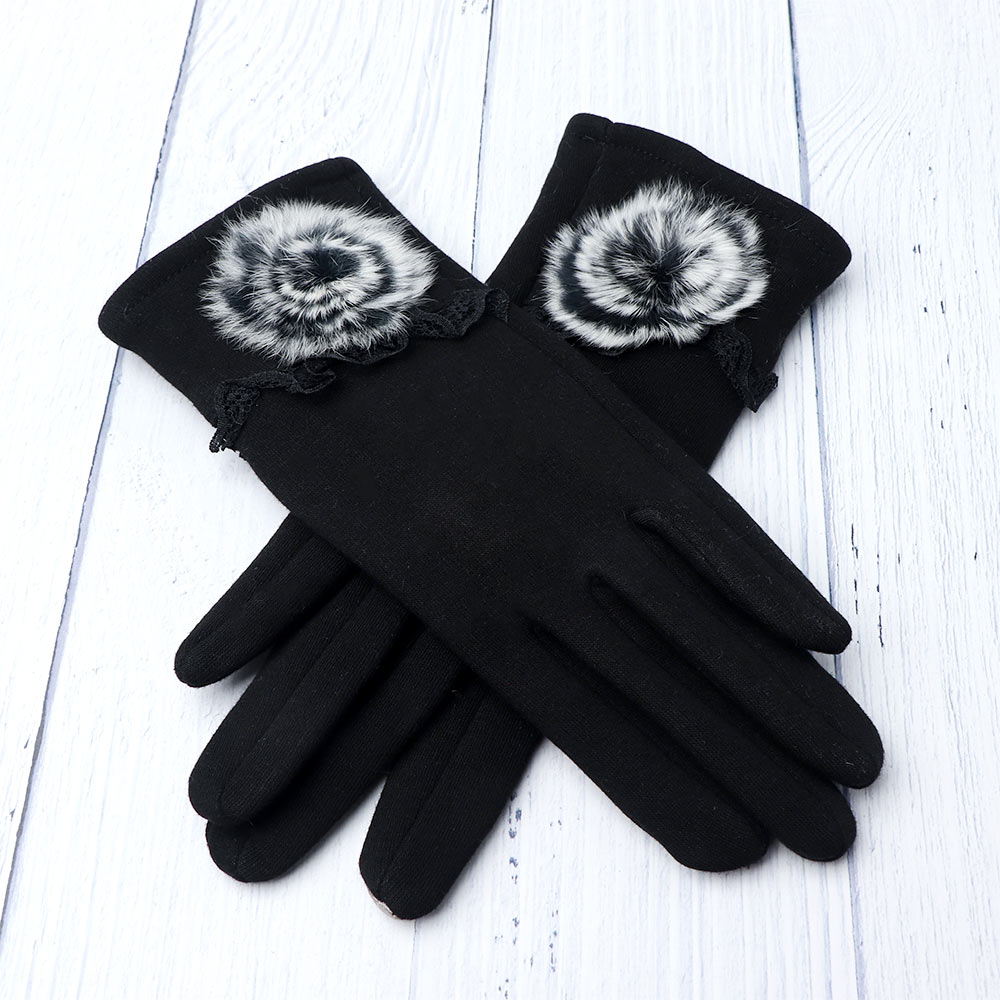 Women's Fashion Soft And Comfortable Villus Winter Super Warm Gloves Cashmere Comfortable Gloves Womens Windproof Gloves