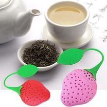 1Pc Lemon Strawberry Shaped Tea Infuser Silicone Tea Strainer Leaf Filter Holder Infuser for Herbal Spice Filter Kitchen Tools стоимость