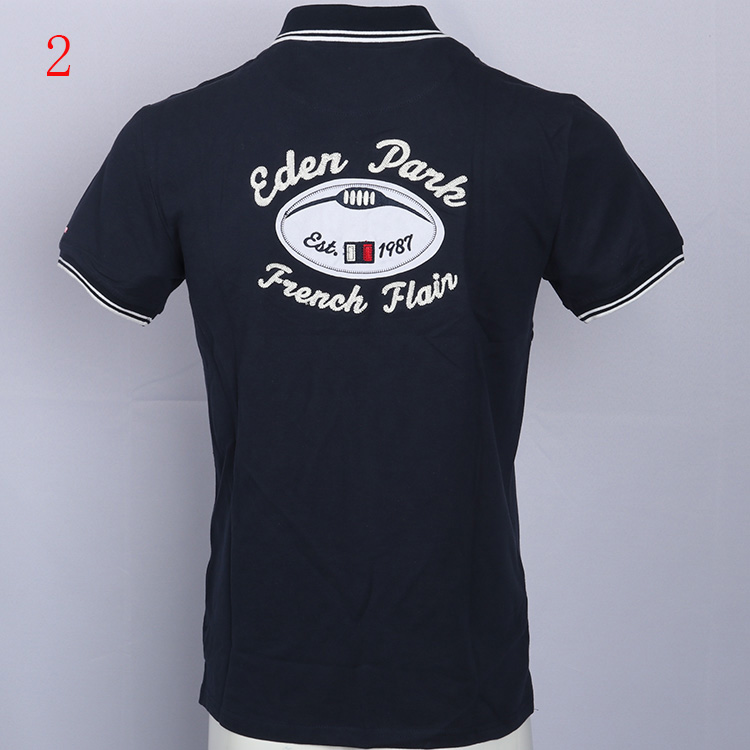 Hombre Top Men Short Sleeve Casual Rugby Shirt Camisa Embroidered Eden Polo Masculine Park England Style Slim