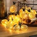 Топовый винтажный Железный фонарь «ананас»  светильник на веревочку  романтическая Рождественская лампа для свадебной вечеринки