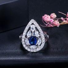 Модное роскошное кольцо из стерлингового серебра 925 пробы покрытый