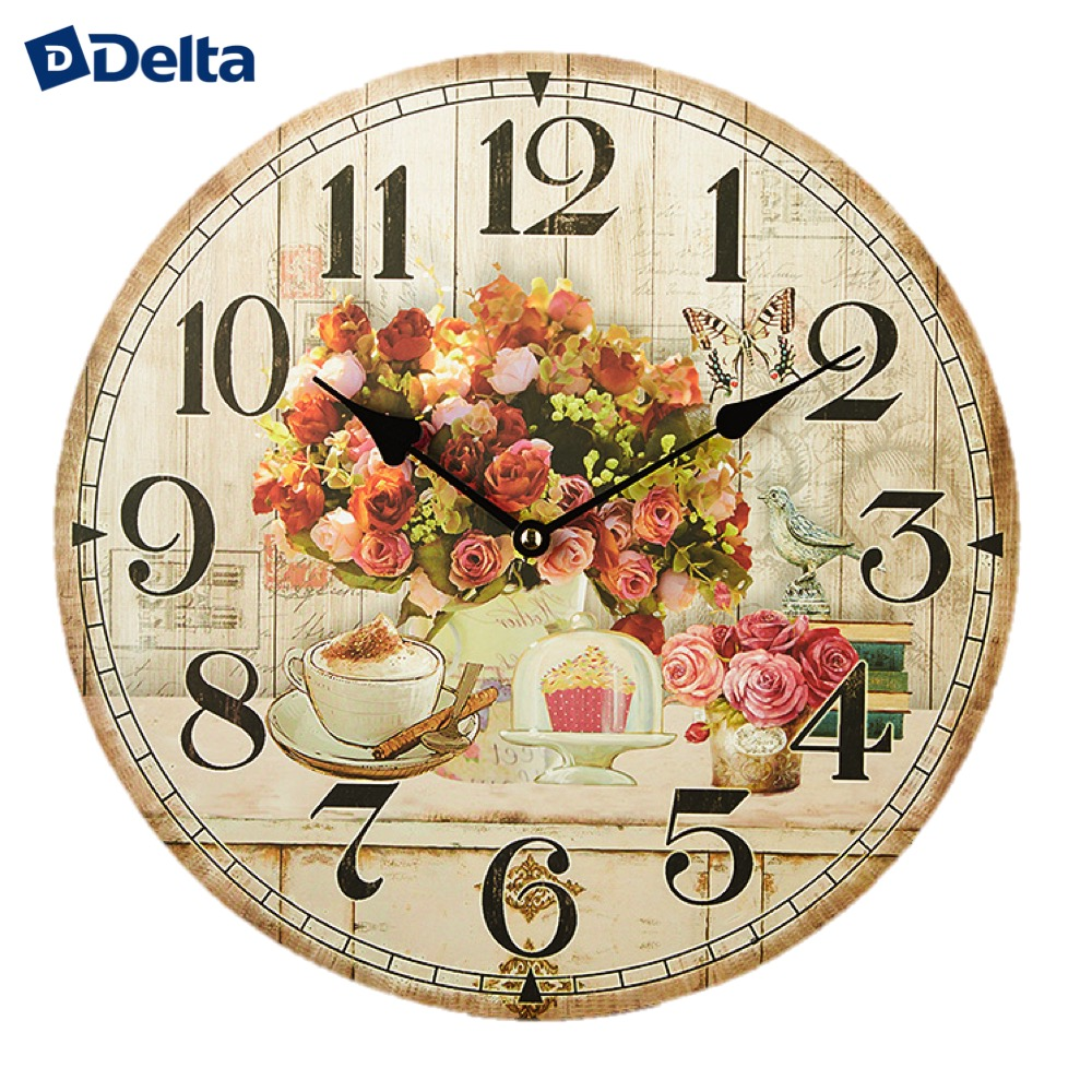 Wall Clocks Delta DT-0141  clock home decor classic look батарея delta dt 6045 4 5ач 6b