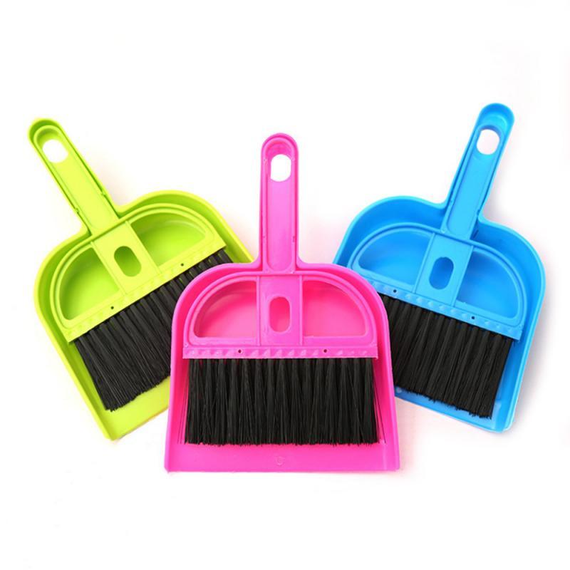 Durable Mini Desktop Sweep Cleaning Brush Keyboard Brush Desktop Sweep Two-piece Small Broom Set Household Cleaning Tools