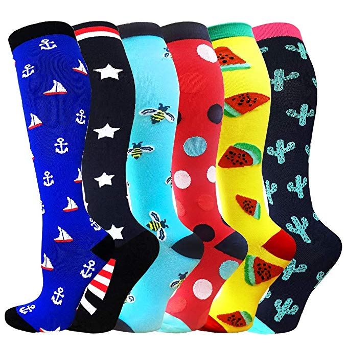 50 Styles Anti Fatigue Men Women Compression Socks Fit For Varicose Veins ,Pulled Muscle,Edema,Diabetic, Sports Basketball Socks