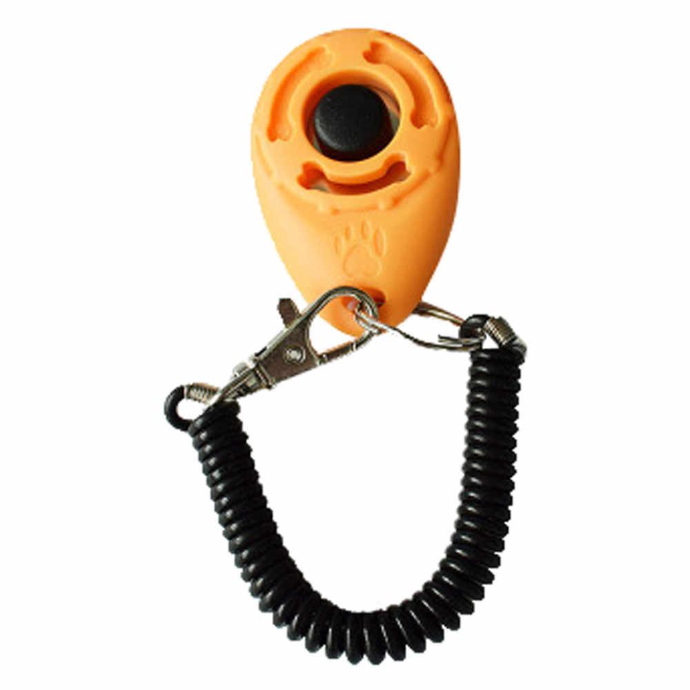 1 Piece New Dog Pet Dog Training Collar Click Clicker Training Trainer Aid Wrist Strap Collar Adiestramiento Perro Собака Собаки