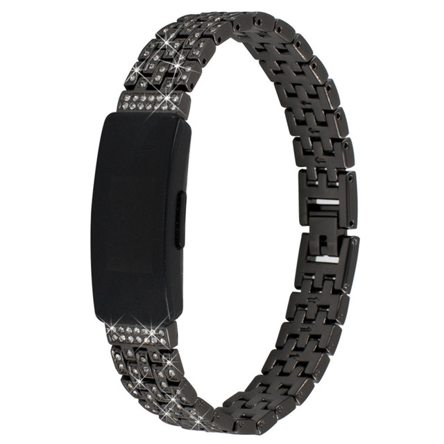 Wristband Watchband Watch Trap Suitable Replacing Alloy Diamond Crystal Strap For Fitbit Inspire/HR Watch Strap Bracelet Aug9 | Watchbands