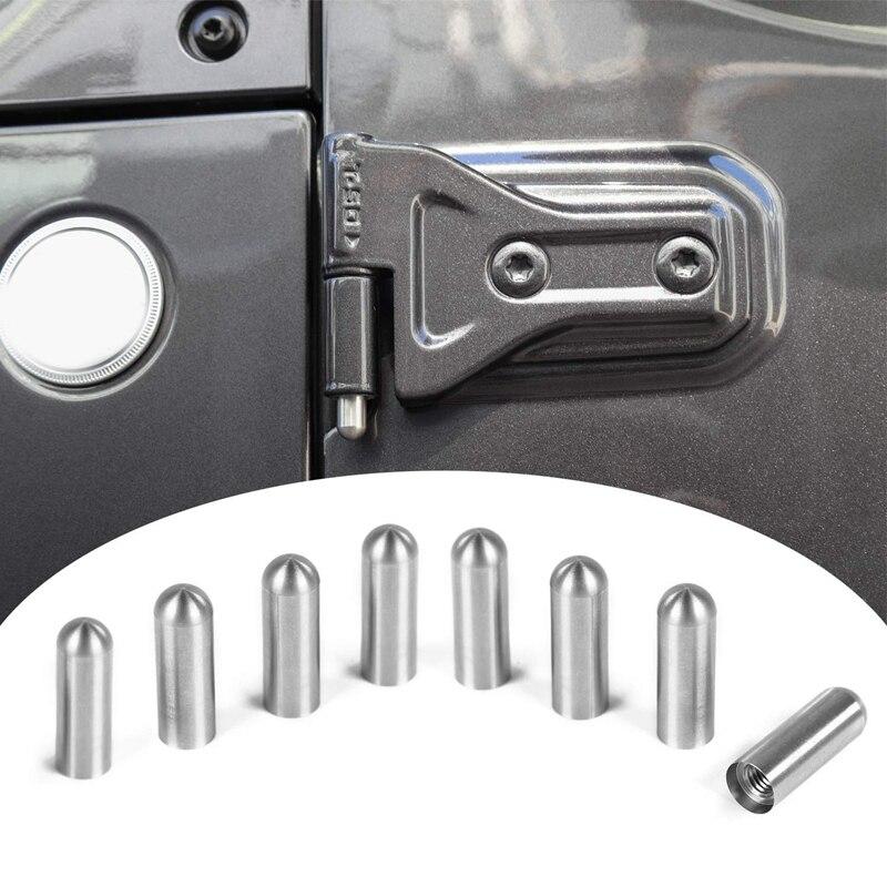 Car Door Hinge Pin Bolts Guides Liners For 1997-2018 Jeep Wrangler TJ JK JL Car Accessories 4 Door 8PCS