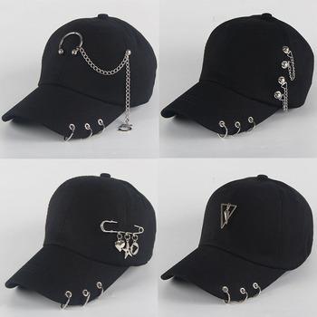 Tata kapelusz BTS kreatywny kolczyk do piercingu czapka z daszkiem Punk Hip-Hop czapki bawełna dorosły dorywczo stałe regulowane Unisex czapki Snapback tanie i dobre opinie Ochrona przed słońcem Cztery pory roku Dla osób dorosłych CN (pochodzenie) PŁÓTNO OUTDOOR Baseball cap Dome L (58-60cm) average code