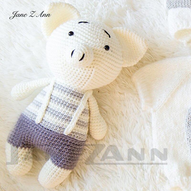 Jane Z Ann Newborn photography prop handmade baby photo 3-4 month 2 colors Studio shooting Costume Piggy set new clothes+doll