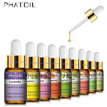 5ml Lavender Vanilla Essential Oil Diffuser Pure Natural Tea Tree Essential Oils Rose Jasmine Vanilla Mint Lemon Shea Butter Oil недорого