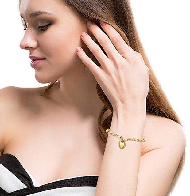 Love Heart Chain Bracelets  4