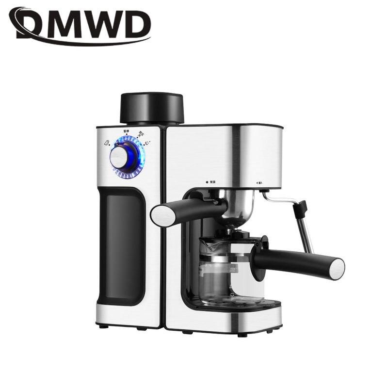 DMWD 240ML Italian Espresso Coffee Maker Automatic Electric Coffee Machine Latte Cappuccino CafeMocha Milk Frothers Milk Foamer