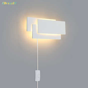 Oreab 2pcs Decorative Indoor Wall Lamp With Switch Led Wall