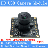 32*32mm HD 120FPS MJPEG USB Camera Module Non Distortion monochrome Global Shutter High Speed UVC Linux 720P Surveillance camera