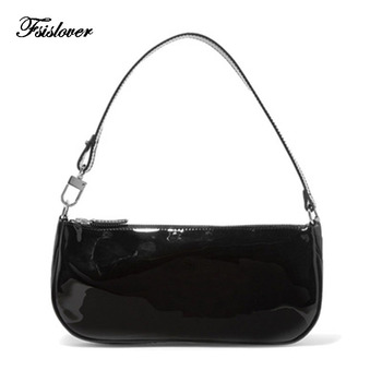 Vintage Baguette Crocodile Pattern Women Shoulder Bags Retro Split PU Leather Bags Solid Ladies Small Messenger Handbag Female