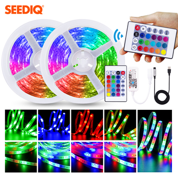 5V Led strip RGB USB 2835 SMD 60Leds/M Led Tape for Computer TV Led Tape With Remote 24K 3K Smart Wifi Control Led Tape image