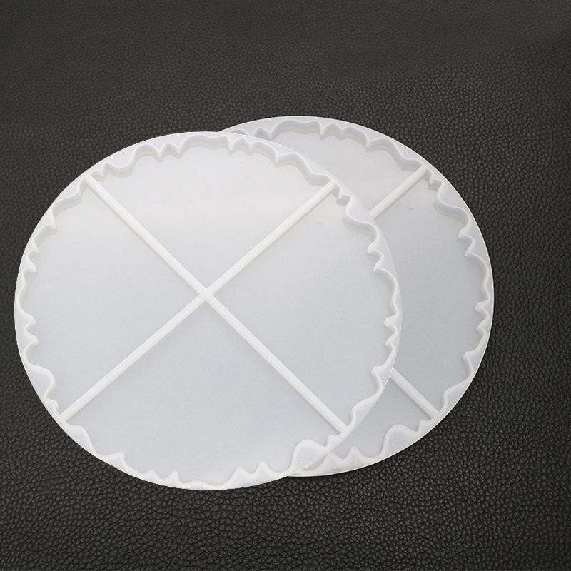 Irregular Wave Round Coaster Silicone Resin Mold Epoxy Resin  Jewelry Making S25 19 Dropship