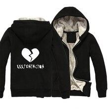 xxxtentacion Broken Heart Man Boy Parkas Full Zip Coat Plus Velvet Autumn Winter Couple Clothes ZIIART