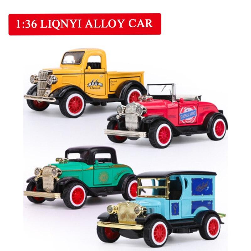 1//36 skala diecast modell vintage cars spielzeug legierung ziehen auto mit