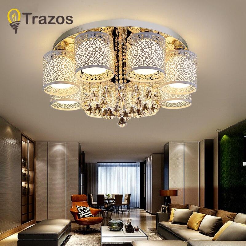 Modern Europe Style Crystal Ceiling Lights E27 Plafonnier LED Lustreceiling Lamp For Living Room Bedroom Restaurant Hotel Bar