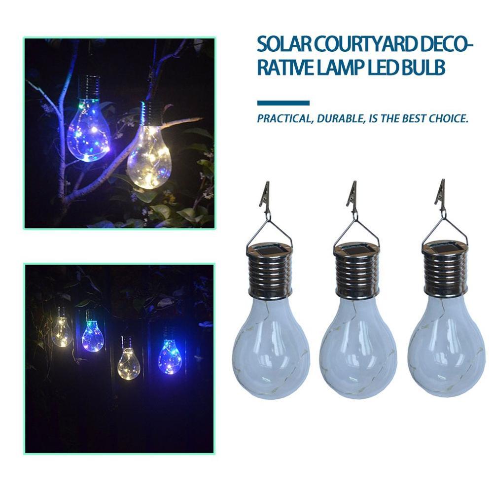 Waterproof LED Solar Light Bulb Solar Rotatable Outdoor Camping Hanging LED Light Lamp Bulb Decoration Home Garden Light