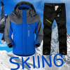 New Thick Warm Ski Suit Men Waterproof Windproof Skiing and Snowboarding Jacket Pants Set Male Winter Snow Costumes Outdoor Wear