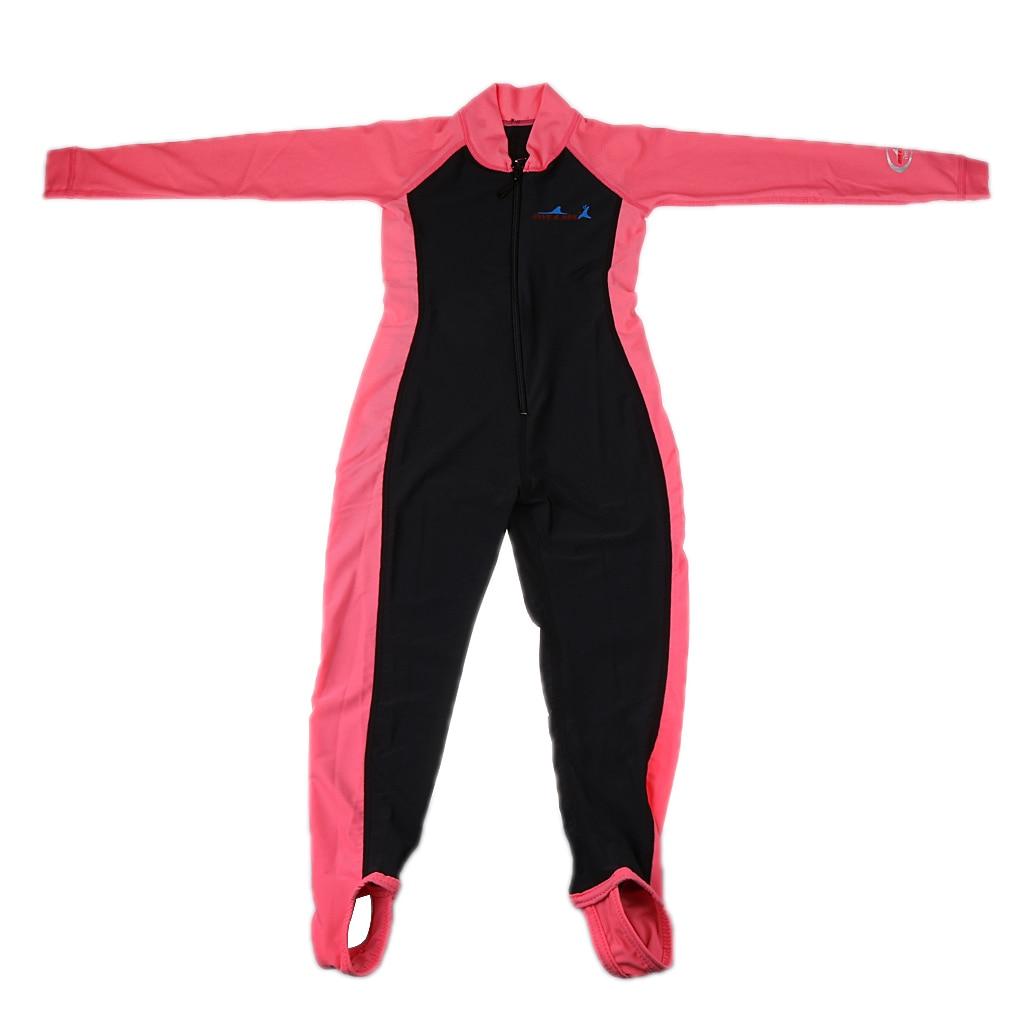 Kids Boys Girls Swimwear Swimming Diving Wetsuit Long Sleeve Front Zip Full Suit Kids Full Body Swimwear