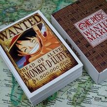 100 folhas/conjunto anime uma peça queria cartão postal marinho inteiro personagem série cartões de mensagem fãs cartão presente