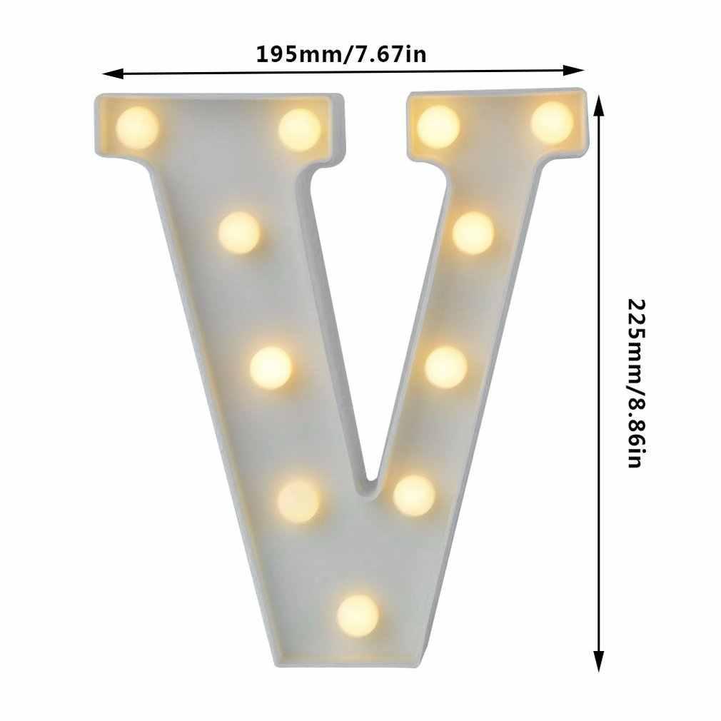 Ins Nóng DIY Chữ Cái Tiếng Anh Đèn Ngủ LED Tuyển Hầu Tước Ký Bảng Chữ Cái 3D Treo Tường Đèn Ngủ Nhà Cưới Tiệc Sinh Nhật trang Trí