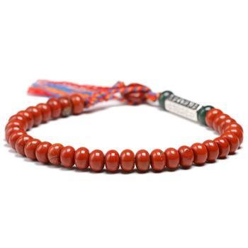 Naturel rouge Jasperr 6 4mm perles Simple Bracelet femmes hommes Six ture mots charme tib tain