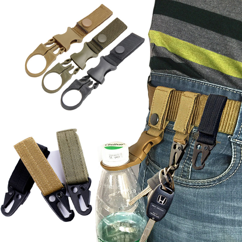 Nylon Belt Backpack Molle Hook Military Hunting Outdoor Survival Climbing Waist Strap Buckle US Army Tactical Belts Accessories