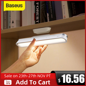 Baseus Desk Lamp Hanging Magnetic LED Table Lamp Chargeable Stepless Dimming Cabinet Light Night Light For Closet Wardrobe