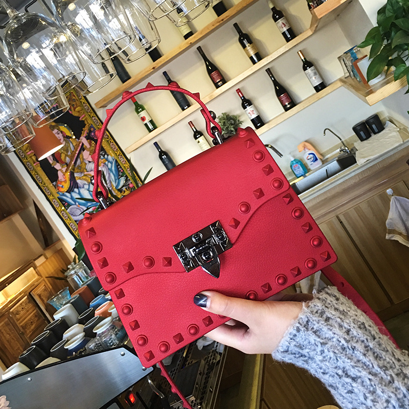 Ougger Flap-Bag Shoulder-Bags Rivet Women's Handbag Small Fashion PU with for Banquet
