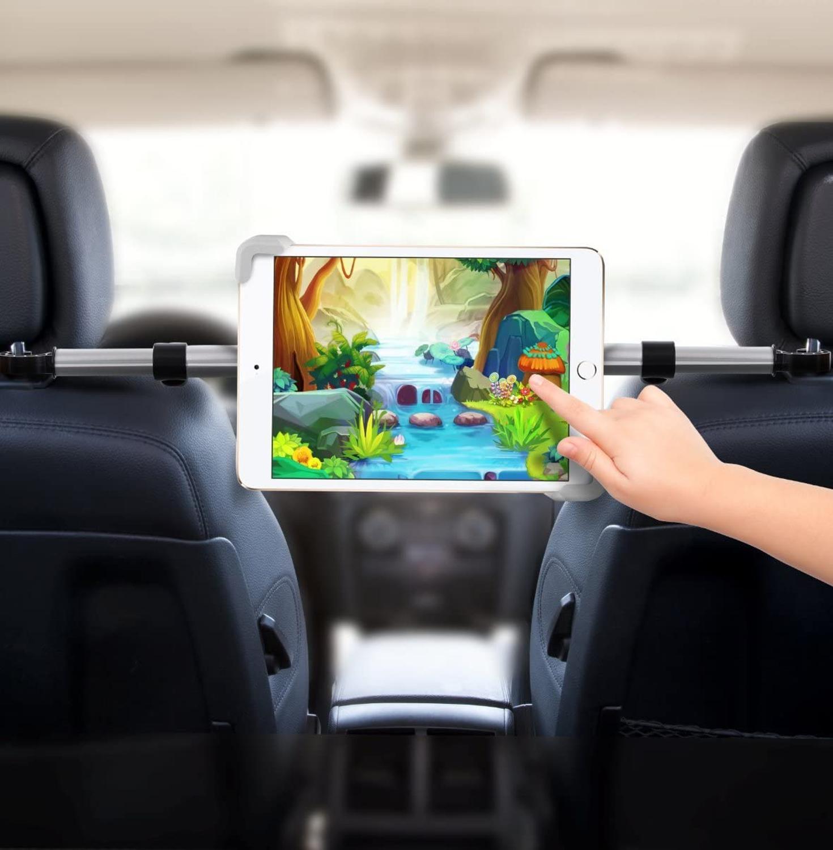 Car Headrest Mount Tablet Holder Car Backseat Seat Mount Tablet Headrest Holder Car Tablet Holder for 7-10.5 Inch Tablet Ipad