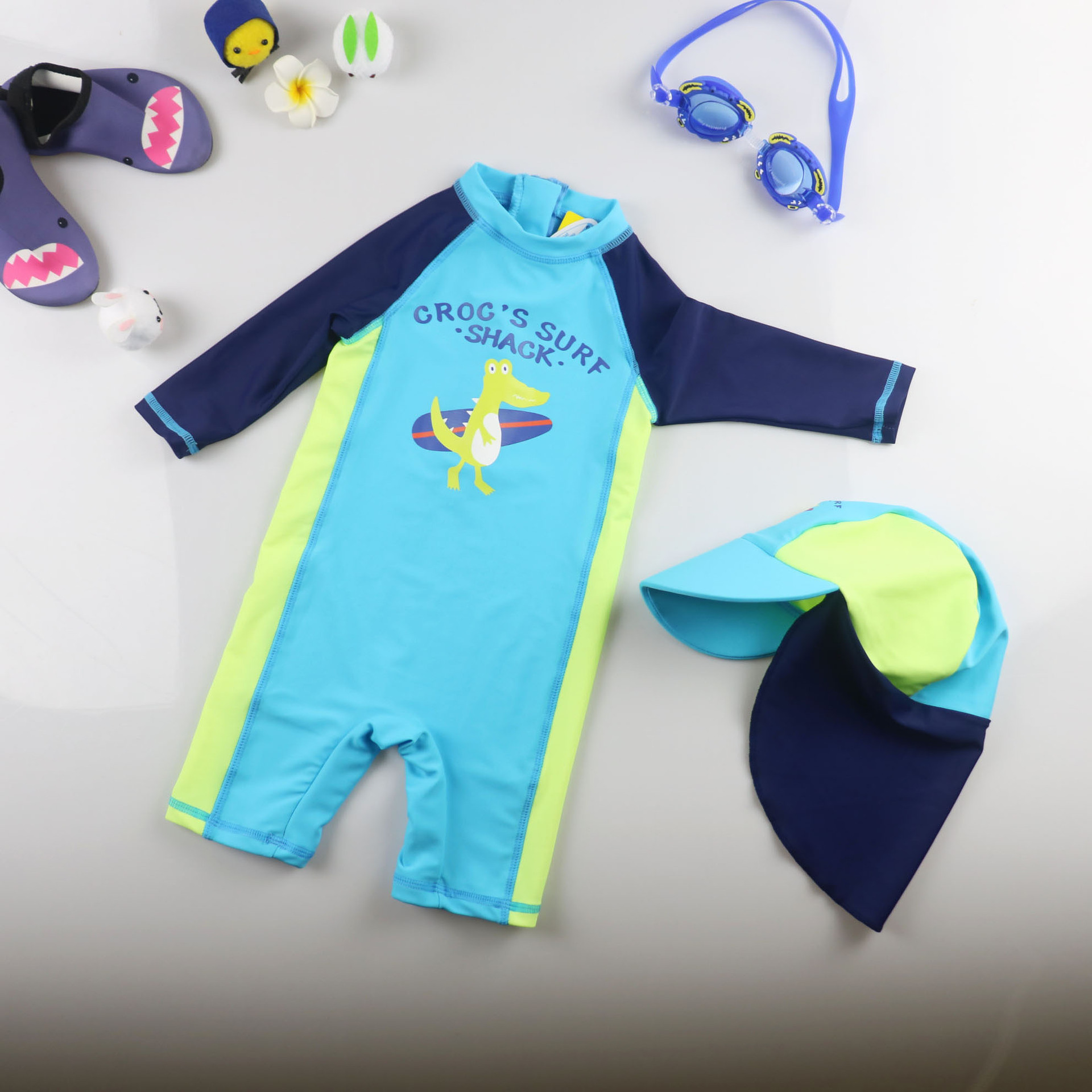 Baby Bathing Suit South Korea Children Boy BOY'S Infants Sun-resistant Quick-Dry Wetsuit Big Boy Hot Springs Swimming Trunks