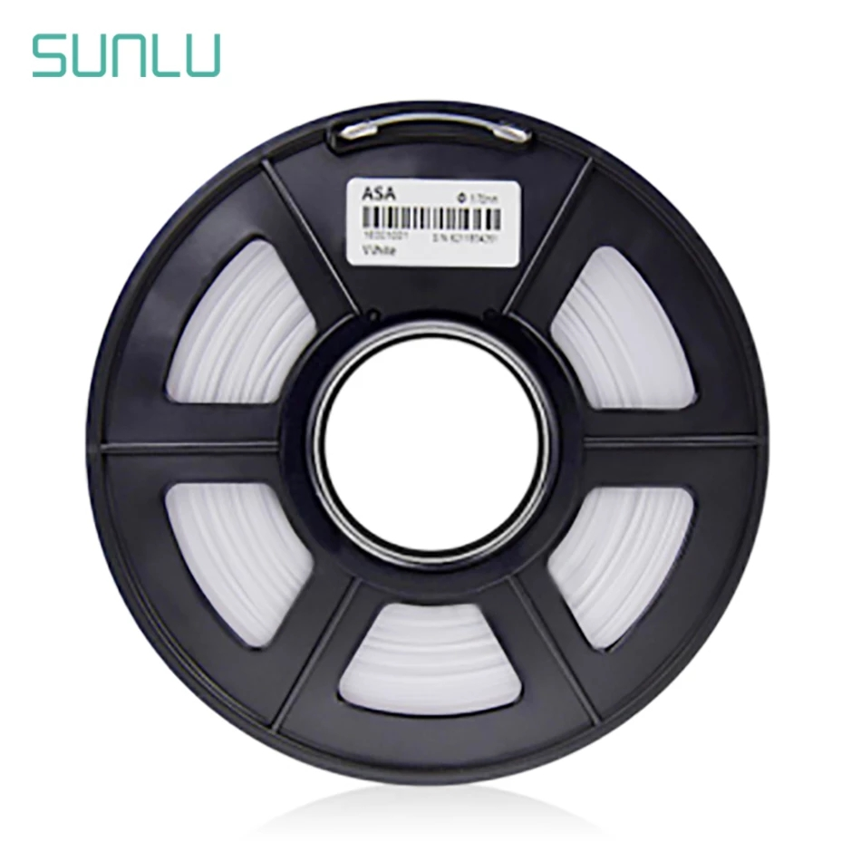 Sunlu asa filamento 1.75mm 1kg fdm impressora 3d impressão filamento precisão dimensional +/-0.02mm
