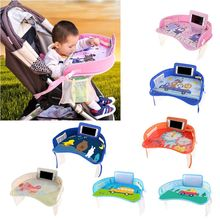 Portable Waterproof Painting Eating Table Desk for Kids Baby Car Tray