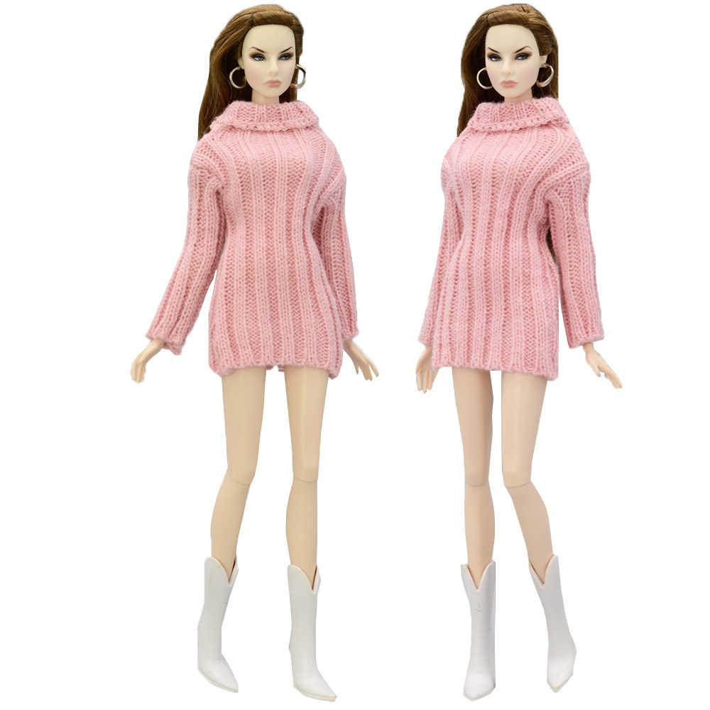 NK Mix Кукольное пальто высококачественная одежда модное платье ручной работы растущий наряд Фланелевое пальто для куклы Барби аксессуары DIY игрушка JJ