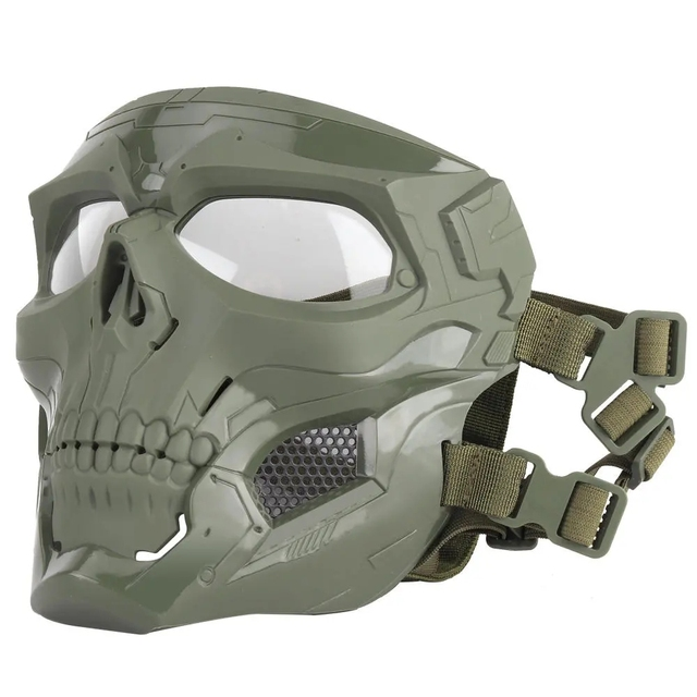 Wosport Skull Tactical Airsoft Mask Paintball CS Military Protective Full Face For Fast Helmet #d 2